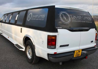Our 13 seater Ford Excursion