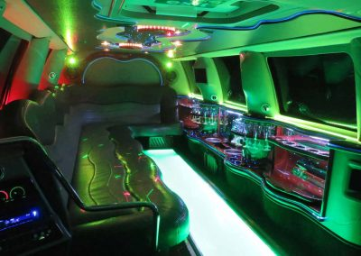 Inside our 13 seater Ford Excursion